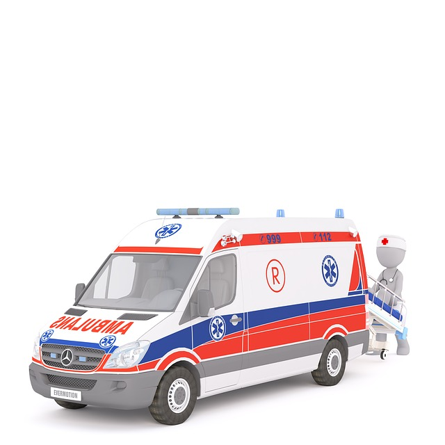 Ambulance, First Aid, White Male, 3d Model, Isolated