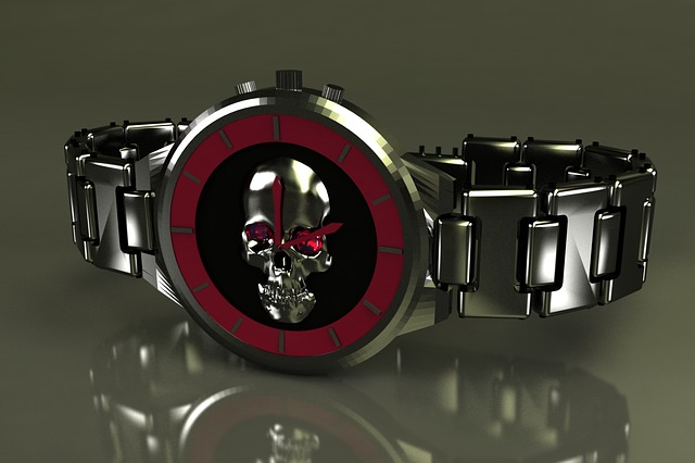 3d Modeling, Clock, Chrome