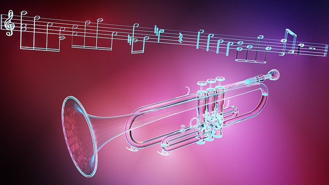 Music, Trumpet, Light Effects, 3d, Blender