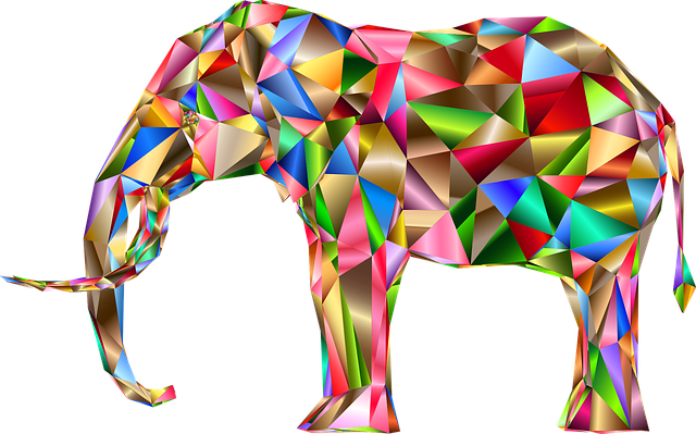 Three D, 3d, Abstract, Art, Elephant, Pachyderm, Animal