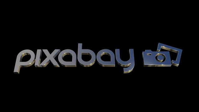 Pixabay, Logo, Design, 3d, Black Logo, Black Design