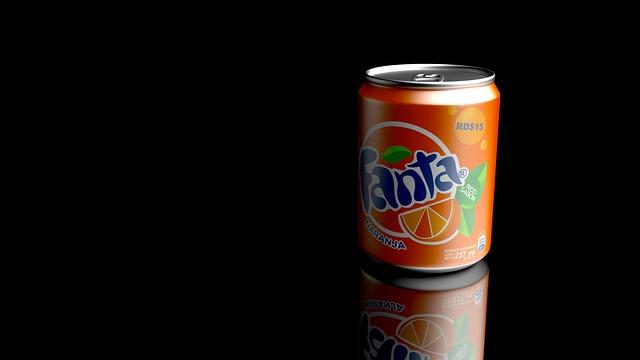 Refreshments, Fanta, Render, Blender, 3d, Soda