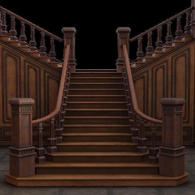 Grand, Staircase, Steps, 3d, Render, Travel, Interior