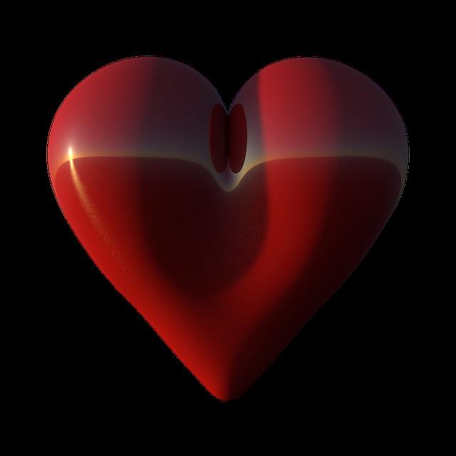 Heart, Big, Red, Love, Shape, 3d, Render, Valentine