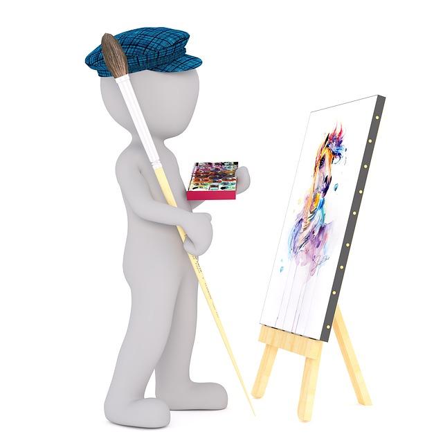Paint, White Male, 3d Model, Isolated, 3d, Model