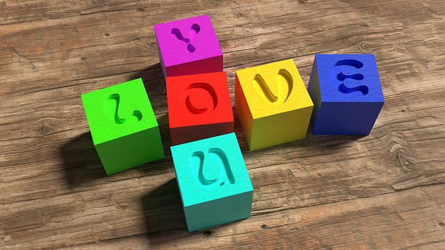 Love, Wooden Blocks, Colorful, Toys, 3d, Blender