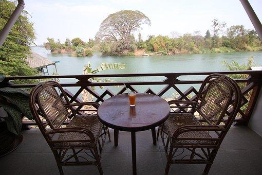 Table, Don Det, Laos, Si Phan Don, 4000 Islands, Asia