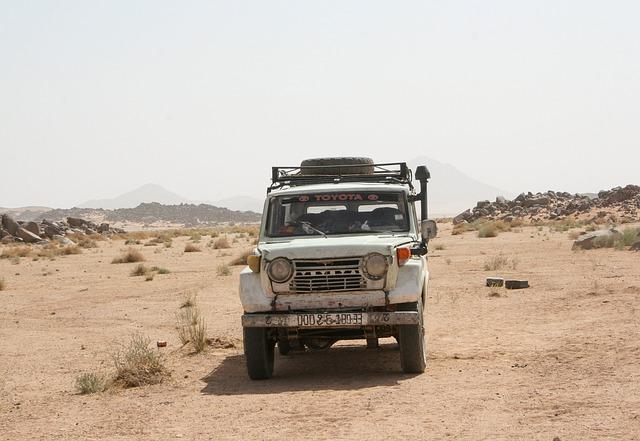 Sahara, Desert, Toyota, Car, 4x4, Track