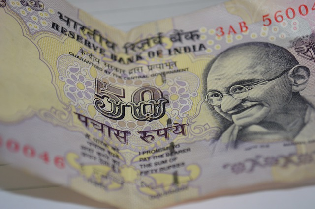 Currency, Notes, Rupee, 50, Fifty, Mahatma Gandhi