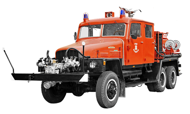Isolated, Ifa G5, 5t, Fire, Fire Truck, Historically