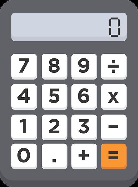 Calculator, Numbers, 0, 1, 2, 3, 4, 5, 6, 7, 8, 9