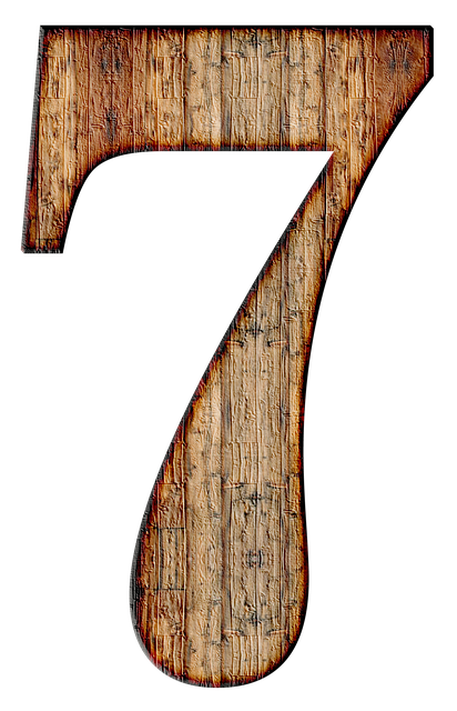 Number, 7, Seven, Digit, Background, Scrapbooking