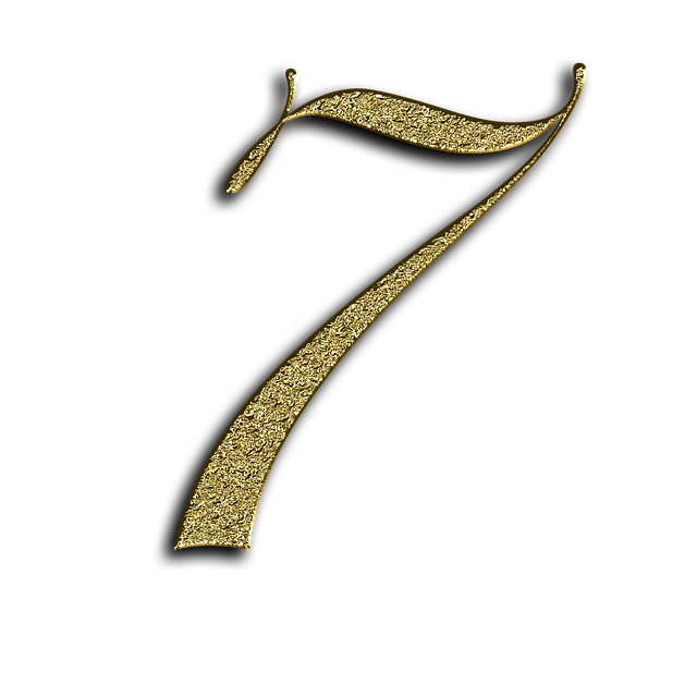 Number, 7, Gold, Font, Training, Seven, Learn, Golden
