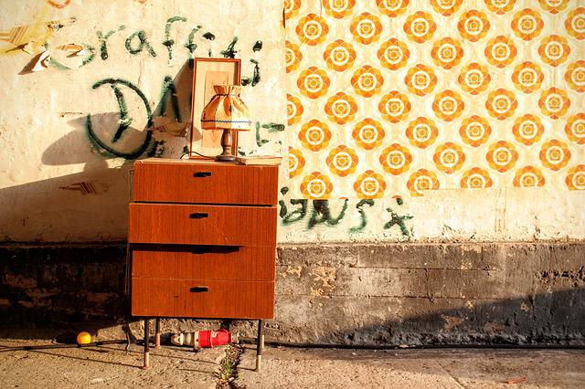 Cabinet, 70th, Old, Wallpaper, Background, Structure