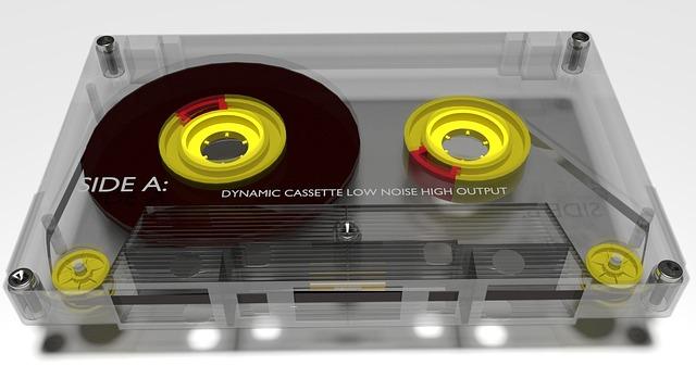 Audio Tape, Cassette, Music, Tape, Vintage, Sound, 80s