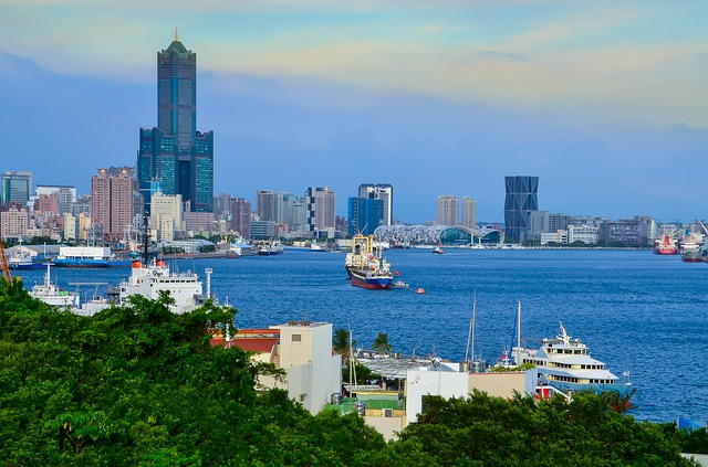 Kaohsiung, Harbor, Ferry Terminal, 85 Building, Ship