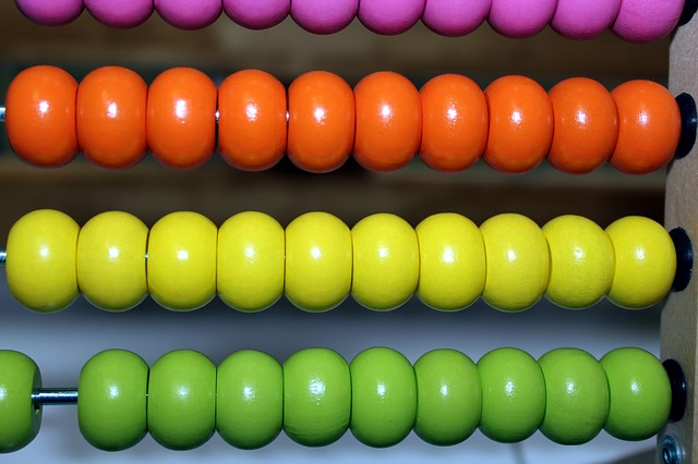 Abacus, Beads, Numeral, Toy, Summation, Counting