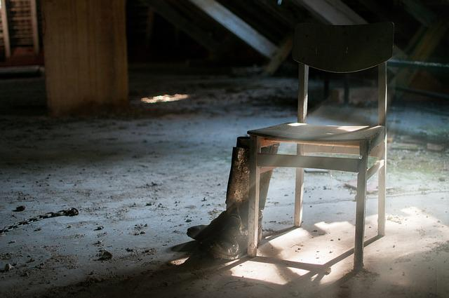 Abandoned, Chair, Boots, Sun, Old, Empty, House