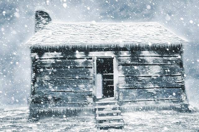 Winter, Hut, Shack, Snow, Abandoned, Art, Design