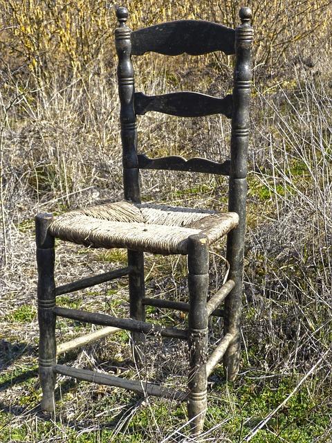 Old Chair, Abandoned, Wicker, Ramshackle, Broken