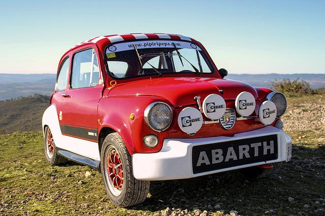 Six Hundred Seat, Abarth, Vintage, Classic, Red Car