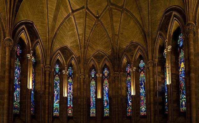 Abbey, Glass, Religion, Architecture, Church, Building