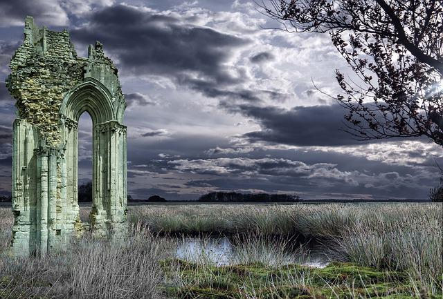 Abbey Window, Ruin, Abbey, Ancient Monument, Monument