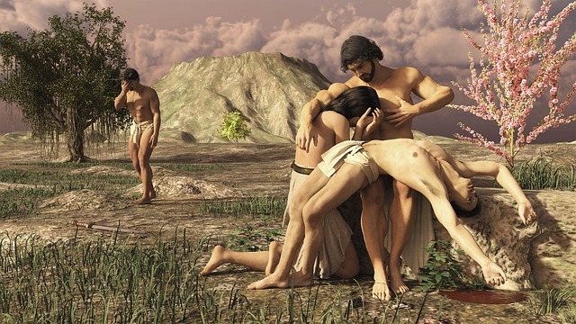 Adam, Enpi, Abel, Cain, The-first-mourning, Bible