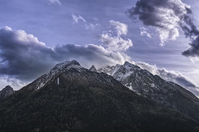 Mountain, Abendstimmung, Clouds, Alpine, Bavaria