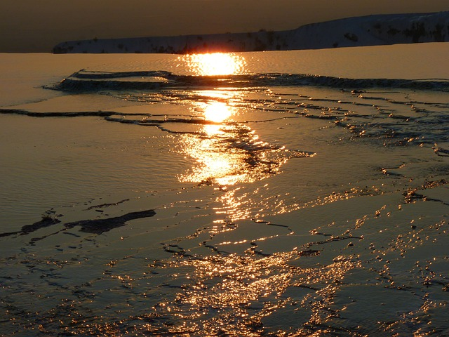 Pamukkale, Abendstimmung, Reflection, Back Light
