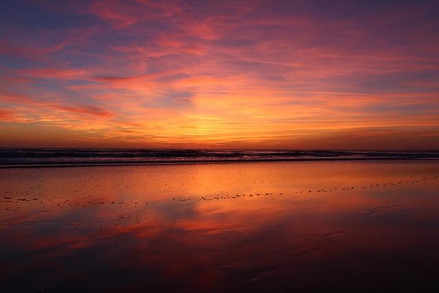 Beach, Sunset, Abendstimmung, Beach Sunset, Evening