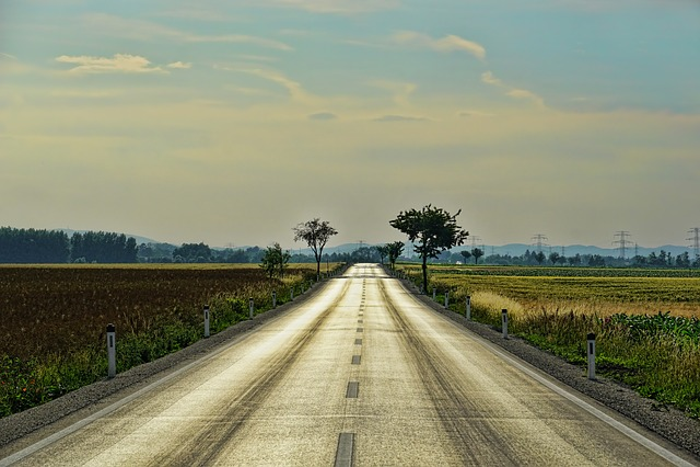 Road, Freie Straße, Abendstimmung, Endless, Clouds
