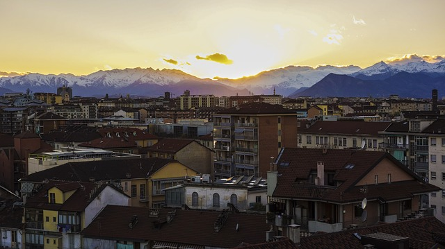 Turin, View, Sunset, Abendstimmung, Sky, Italy, The Sky