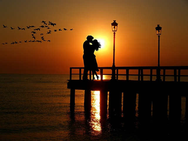Lovers, Sunset, Romance, Abendstimmung, Pair, Love