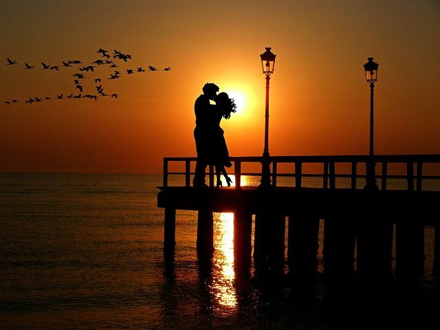 Lovers, Sunset, Romance, Abendstimmung, Pair, Love