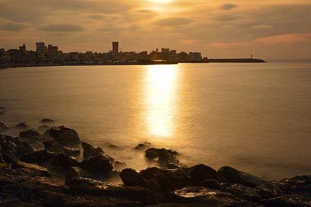 Sunset, Abendstimmung, Dusk, Evening Land, Sea