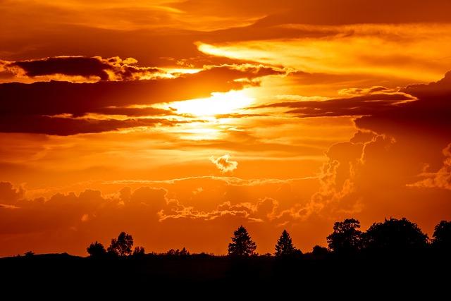 Sunset, Setting Sun, Evening Sky, Sun, Abendstimmung