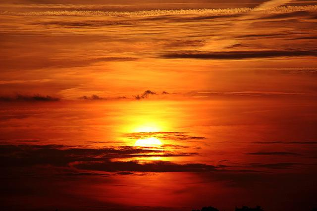 Sunset, Sun, Clouds, Dark Clouds, Abendstimmung, Sky