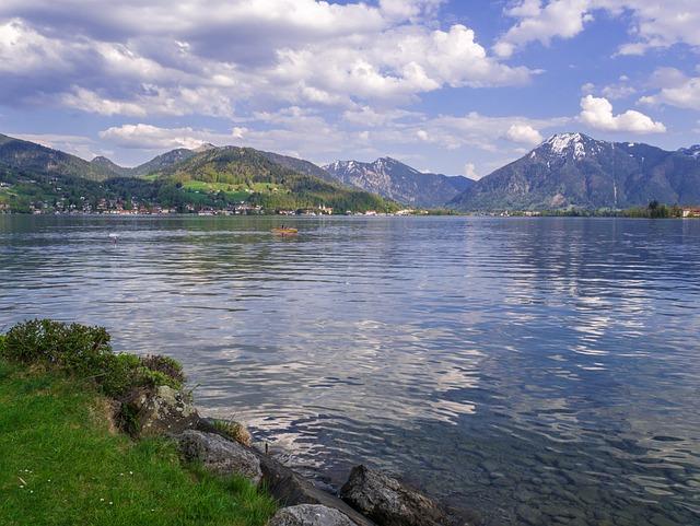 Lake, Sky, Mountains, Abendstimmung