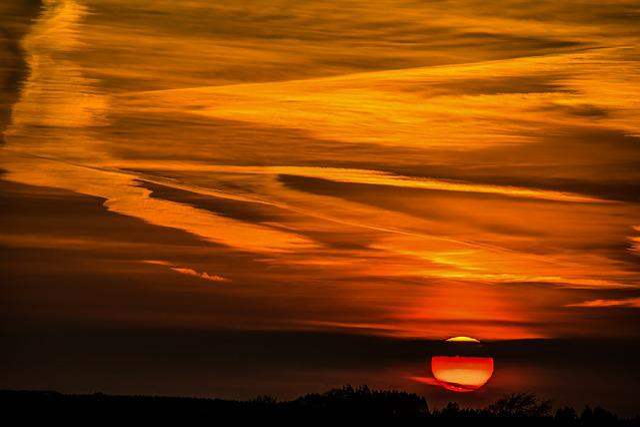 Sunset, Sun, Setting Sun, Abendstimmung, Evening Sky