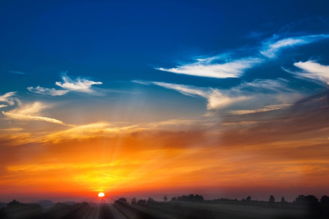 Sunset, Sun, Abendstimmung, Setting Sun, Sunbeam