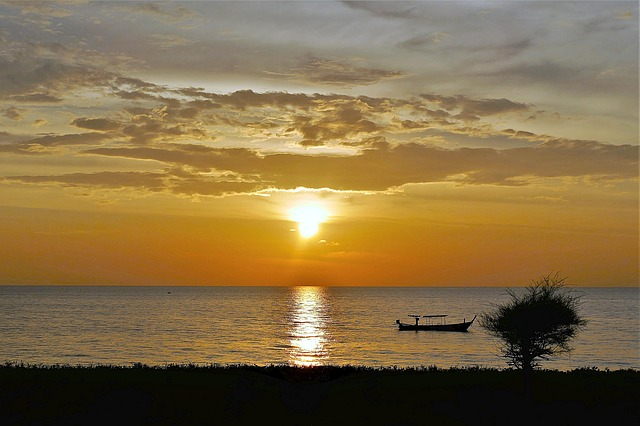 Sunset, Thailand, Sea, Abendstimmung, Sun, Waters, Dusk