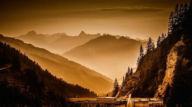 Arlberg Pass, Landscape, Abendstimmung, Twilight