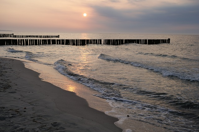 Beach, Abendstimmung, Afterglow, Sea, Waters, Sand