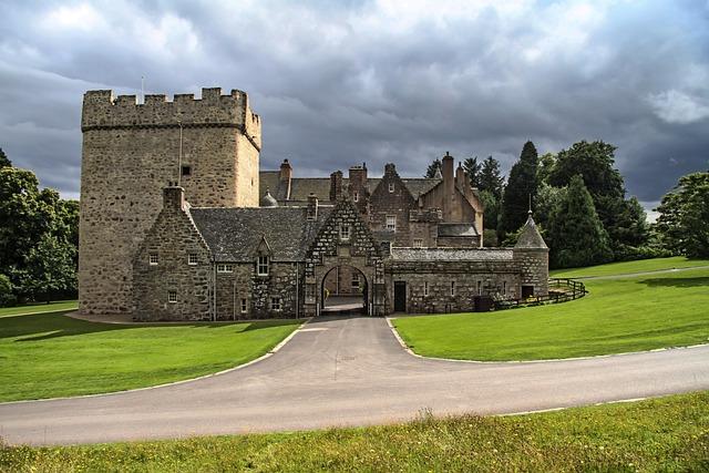 Drum Castle, Castle, Clouds, Aberdeenshire, Scotland
