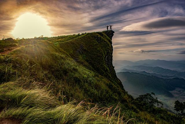 Cliff, Adventure, Above, Hiking, Chiang Rai, Dawn
