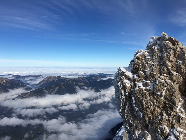 Zugspitze, Above The Clouds, Rock, Mountains, Nature