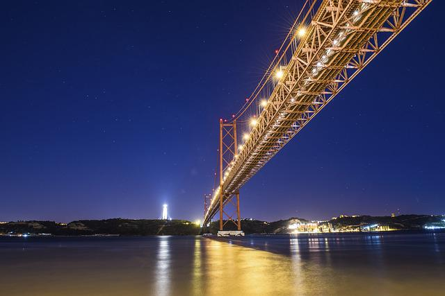 Abril, Bridge, Tejo, Lisbon, Portugal