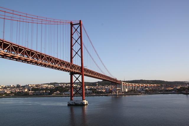 Ponte, Abril, Lisbon, Bridge, Portugal, Tejo