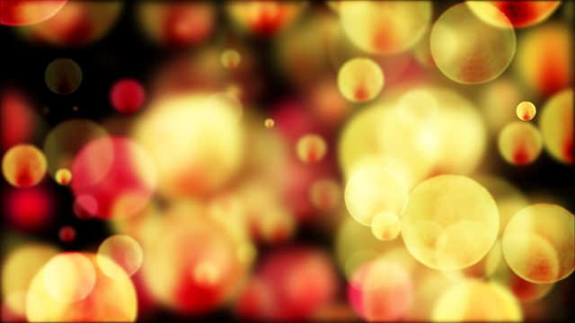 Bokeh, Yellow, Red, Abstract, Background, 4k Wallpaper